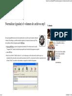 Normalizar (Igualar) El Volumen de Archivos Mp3