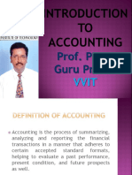 Introduction to Accounting Gp2  by Professor & Lawyer Puttu Guru Prasad