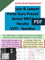 3 Causes of the Great Depression Gp1 by Professor & Lawyer   Puttu Guru Prasad