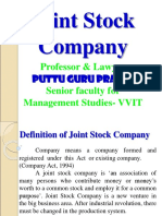 Joint Stock Company Gp1  by Professor & Lawyer Puttu Guru Prasad