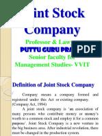 Joint Stock Company Gp1  by Professor & Lawyer Puttu Guru Prasad