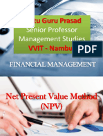 Net Present Value Gp1  by Professor & Lawyer Puttu Guru Prasad