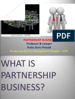 Partnership Business Gp1  by Professor & Lawyer Puttu Guru Prasad