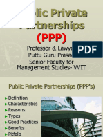 Public Private Partnership PPP Gp1  by Professor & Lawyer Puttu Guru Prasad