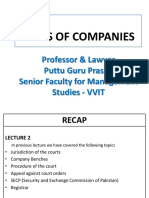 Types of Companies Gp1  by Professor & Lawyer Puttu Guru Prasad
