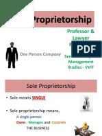Sole Trader and HUF Gp1  by Professor & Lawyer Puttu Guru Prasad