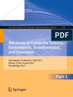 (Communications in Computer and Information Science 214) Dongjuan Ma, Qimin Zhang (Auth.), Song Lin, Xiong Huang (Eds.)-Advances in Computer Science, Environment, Ecoinformatics, And Education_ Intern
