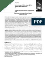 O problema de seleção de portfólio de projetos de pesquisa em instituições de ensino- um estudo de caso