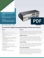 DGS 1016D Datasheet