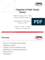 Lectura 11. Cutting or Capping of High Assay Values