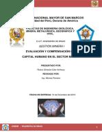 Evaluación y Compensación Del Capital Humano en El Sector Minero