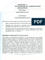 Definition and Purpose of Comparative Education.