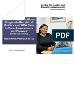 DWP WCA Guidance on Severe Conditions