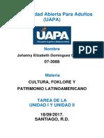 TAREA I Y II CULTURA, FOKLORE Y PATRIMONIO LATINOAMERICANO.docx