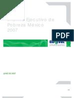 Coneval Inf. Ejec. de Pobreza Mexico 2007