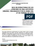 Deterioros En Estructuras de los Pasos Superiores de Una Autopista Urbana Originados por el Sismo del 27 de Febrero de 2010