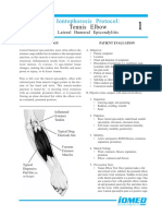 1. Iontophoresis TENNIS ELBOW (Lateral Humeral Epicondylitis)