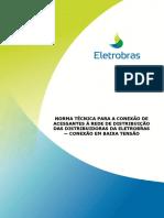 NORMA_Conexão de Acessantes à Rede de Distribuição BT - Microgerador 01-03-2016