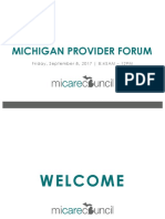 MI Care Council Provider Forum Presentation