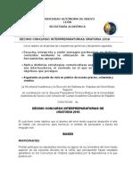 Decimo Concurso Interpreparatorias Oratoria 2016