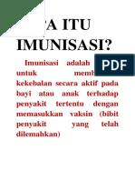 Apa Itu Imunisasi