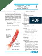 3. Iontophoresis GOLFERS ELBOW (Medial Epicondylitis)