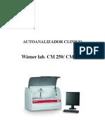 Manual de Usuario CM 250 Español