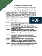 job description and evalution form