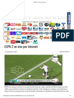 ESPN 2 en Vivo Por Internet