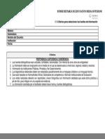 1.1 Criterios para seleccionar fuentes Información