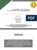 PSIKIATRI SOSIAL