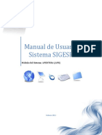 Manual de Usuario Sistema SIGESP Apertura