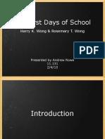 1st Days of School