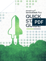 Quick Start Guide Servicedesk Plus