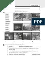 environment natural disasters worksheet