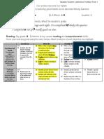 sample student-teacher conference portfolio form