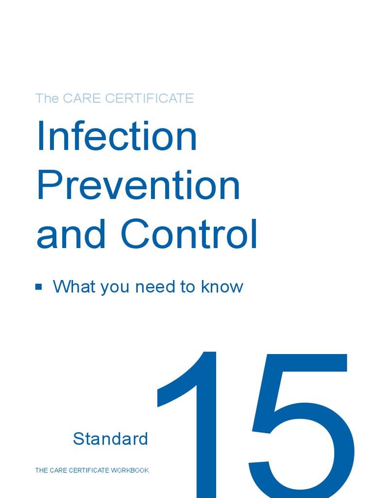 Workbooks infection control workbook : Standard 15 CC Workbook.pdf | Hand Washing | Hygiene