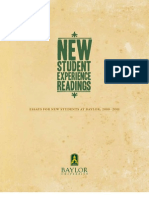 Baylor University New Student Experience Readings