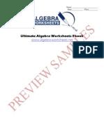 Ultimate Algebra Worksheets eBook Preview No TOC