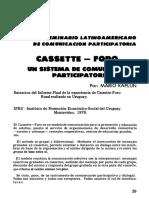 Artigo Cassette-Foro_um Sistema de Comunicacion Participatoria