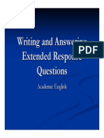 answering extended response questions with sample questions