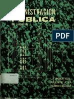 160149856 La Politica Frente a La Burocracia