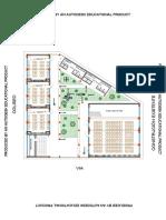 Planta y Corte Aulas Escuela-model