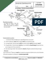 Devoir de Contrôle N°1 - Technologie - 1ère AS  (2009-2010)  Mme Toumi Imen Système Système de lavage de bidons