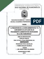 Prescripcion de La Accion Administrativa y Cumplimiento e Plaos en Ugel