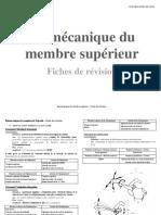 Biomécanique Du MS - Fiche de Révision