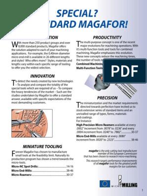 Magafor 091055040 60 Degree Futura Coated Cobalt Plain Type Center Drills