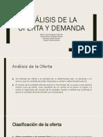 Análisis de La Oferta y Demanda