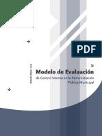 Modelo de Evaluacion de Control Interno en La Administracion Publica Municipal