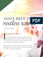 God's rest in a restless world - Charles Arand | Jesus, the restorer of rest - Thomas Egger